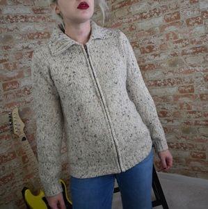 Croft & Barrow Petite Zip Up Sweater